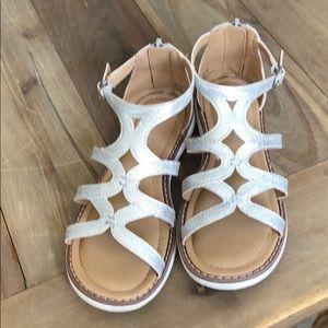 Hannah Anderson Gladiator sandal in silver 13